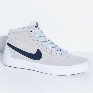 Women's Nike SB Bruin Hi Pure Platinum